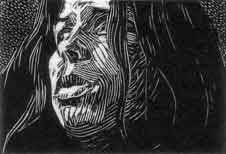 Self Portrait (wood engraving)
